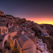 Sunrise in the heart of Oia